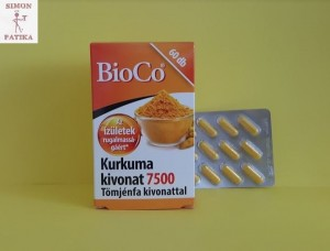 BioCo Kurkuma 7500 Tömjénfa kivonattal