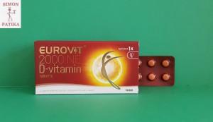 Eurovit D vitamin tabletta
