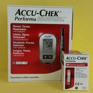 Accu-Chek Performa vércukormérő + teszt