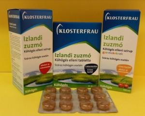Klosterfrau Izlandi zuzmó szirup gyermekeknek, felnőtteknek, tabletta