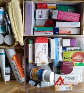 Otthoni gyógyszerek átvizsgálása,