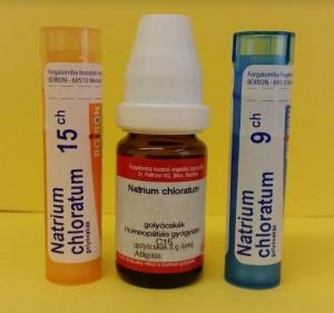Natrium chloratum homeopátia