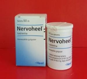 Nervoheel tabletta homeopátia Heel