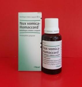 Nux vomica Homaccord csepp homeopátia Heel