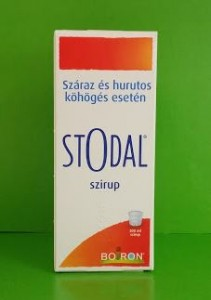 Stodal szirup homeopátia Boiron száraz, hurutos köhögés
