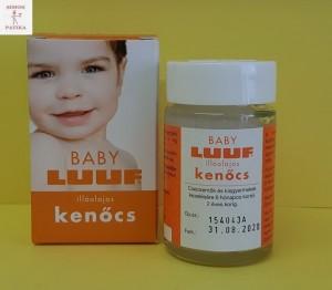 Baby Luuf balzsam mellkas bedörzsölő megfázás köhögés nátha