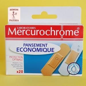 Mercurochrome sebtapasz 20 db