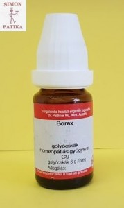 Borax C9 homeopátia afta Peithner DHU