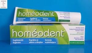Homeodent fogfehérítős fogkrém homeopátiás mentol mentes