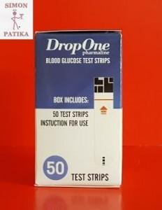 Jutavit Drop One vércukormérő tesztcsík