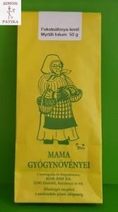 Fekete áfonya levél cukor Mama gyógynövényei
