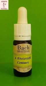 Kisezerjófű Centaury Bach virágeszencia