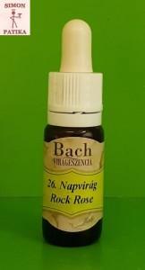 Napvirág Rock Rose Bach virágeszencia