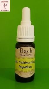 Nebáncsvirág Impatiens Bach virágeszencia