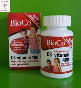 Bioco D3 vitamin gyerek tabletta