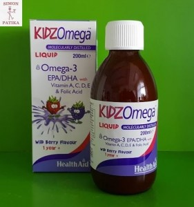 HealthAid Kidz Omega szirup okosító
