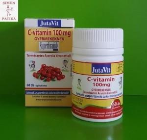 Jutavit C vitamin 100 mg Acerola gyerek