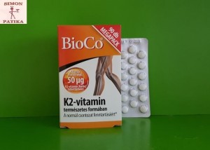 BioCo K2 vitamin tabletta 90db