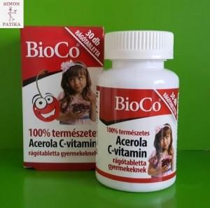 Bioco természetes C vitamin Acerola 100 mg gyerek