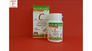 Naturland C vitamin 50 mg rágótabletta 100db